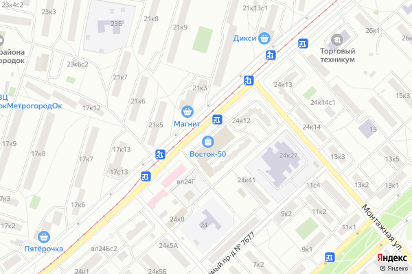 Ремонт телевизоров Район Метрогородок на яндекс карте