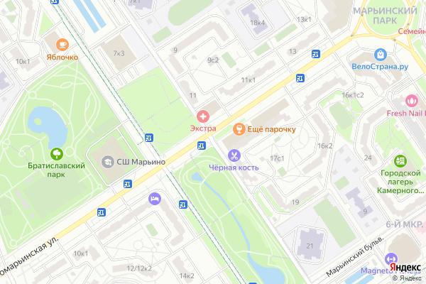 Ремонт телевизоров Мячковский бульвар на яндекс карте