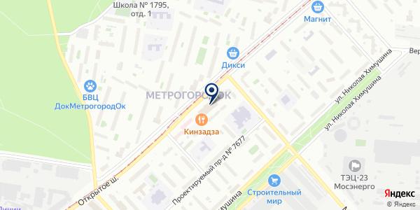 Комфортный дом на карте Москве