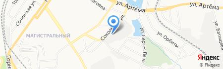 Юнилит на карте Донецка