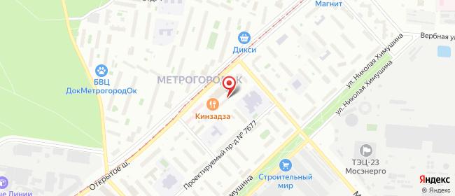 Карта расположения пункта доставки Москва Открытое в городе Москва