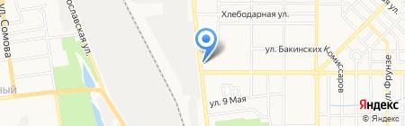 Дарли на карте Донецка