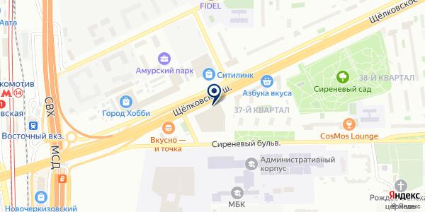 Мода-Блюз на карте Москве