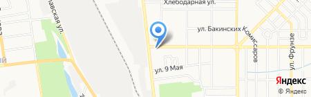 АСБ на карте Донецка