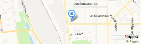 Автостоянка на проспекте Александра Матросова на карте Донецка