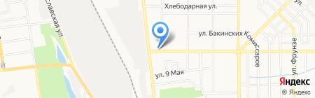 Бард на карте Донецка