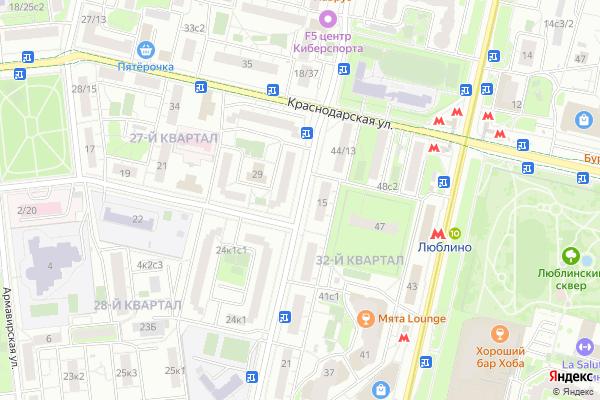 Ремонт телевизоров Улица Новороссийская на яндекс карте
