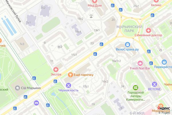 Ремонт телевизоров Улица Новомарьинская на яндекс карте