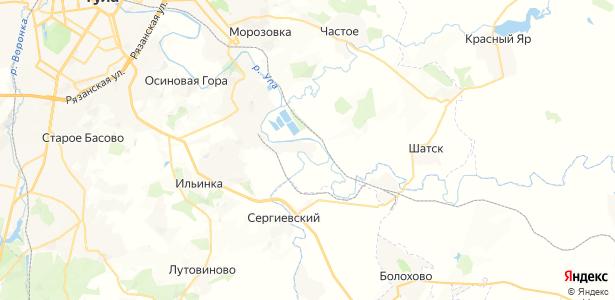 Нижние Присады на карте