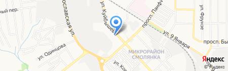Электролайн на карте Донецка