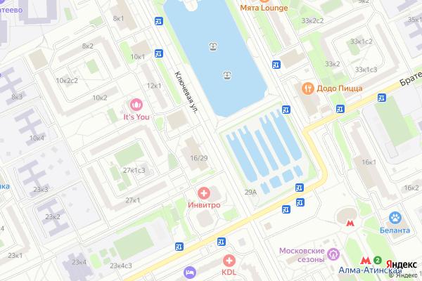 Ремонт телевизоров Улица Ключевая на яндекс карте