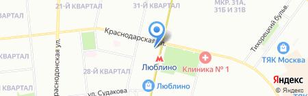 ТРИКА на карте Москвы