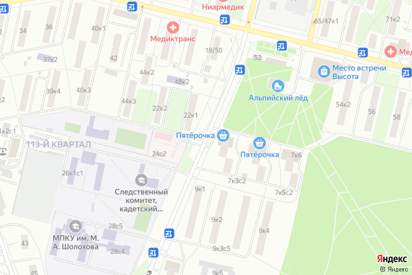 Ремонт телевизоров Улица Маршала Чуйкова на яндекс карте