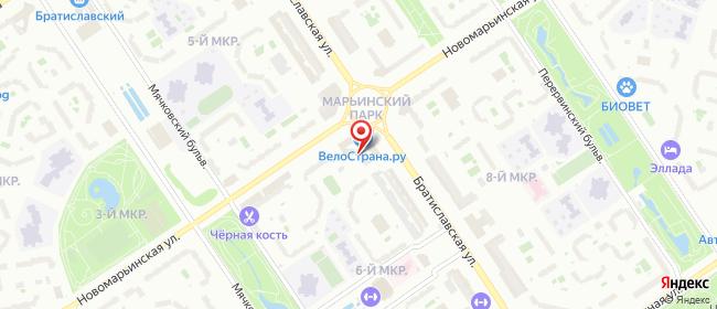 Карта расположения пункта доставки Москва Братиславская в городе Москва