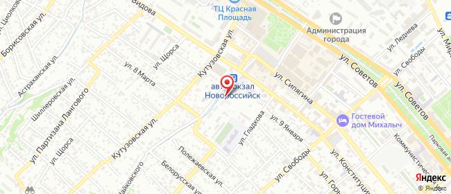 Карта расположения пункта доставки Новороссийск Чайковского в городе Новороссийск