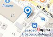 Новороссийск-Краснодар на карте