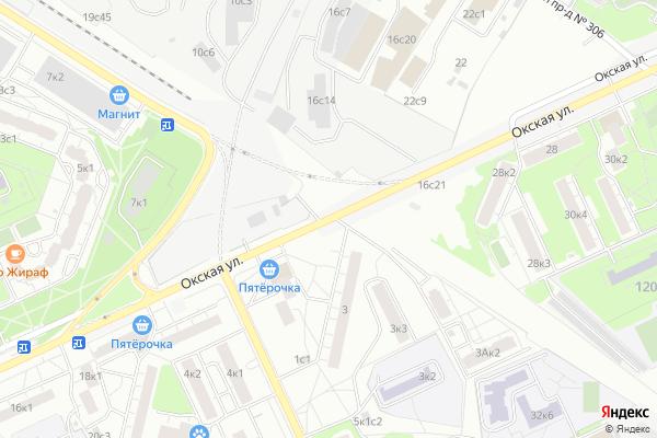 Ремонт телевизоров Улица Окская на яндекс карте