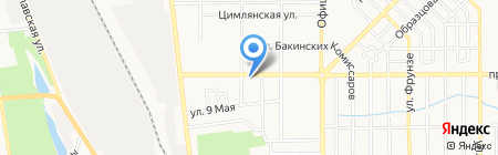 Зелёный на карте Донецка