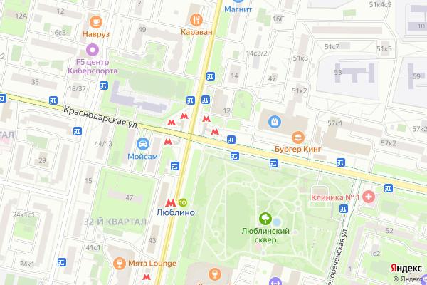 Ремонт телевизоров Улица Краснодарская на яндекс карте