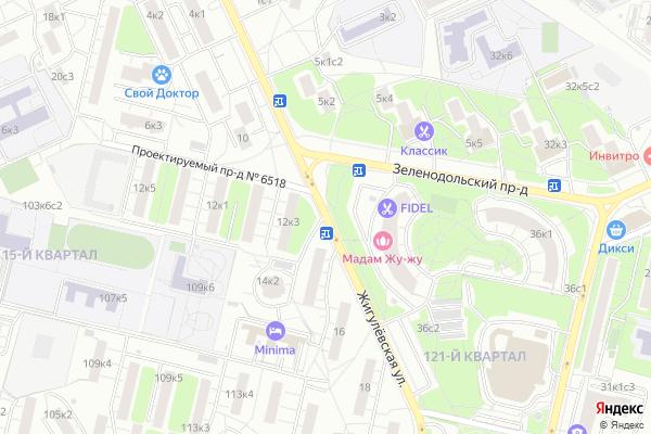 Ремонт телевизоров Улица Жигулевская на яндекс карте
