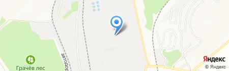 Осколцемент на карте Старого Оскола