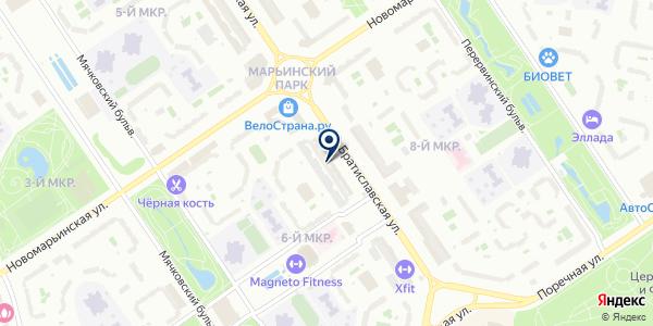 МАГАЗИН КОСМЕТИКИ РИФ И КОМПАНИЯ на карте Москве