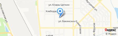 Спрут на карте Донецка