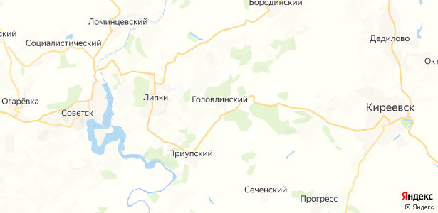 Головлинский на карте