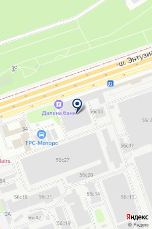 Торсион на карте Москвы