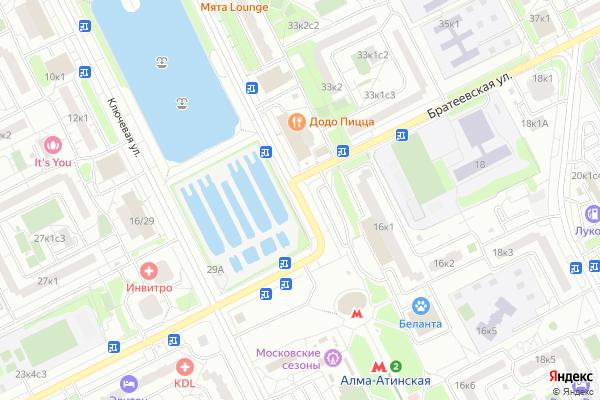 Ремонт телевизоров Улица Братеевская на яндекс карте