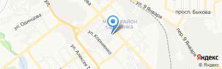 Лаврус на карте Донецка
