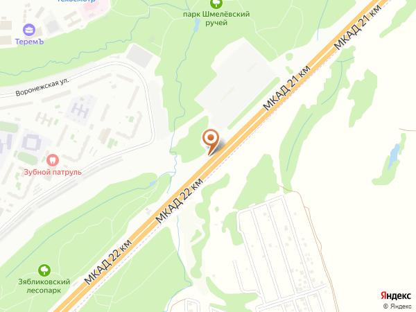 Остановка «Зябликово», 21-й километр Московской Кольцевой Автодороги (7821) (Москва)