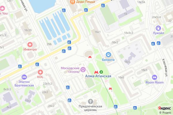 Ремонт телевизоров Район Братеево на яндекс карте
