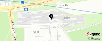 Главная Аллея на карте Москвы