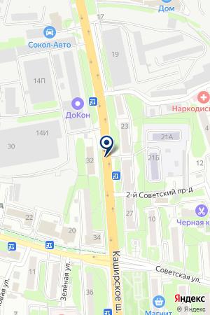 АВТОСАЛОН КЭМП на карте Домодедово