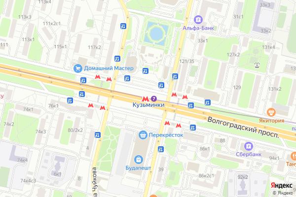Ремонт телевизоров Метро Кузьминки на яндекс карте
