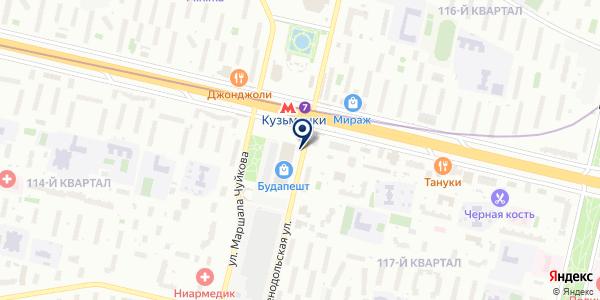 Цветочный магазин на карте Москве