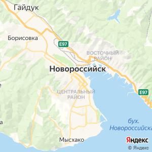 Карта города Новороссийска