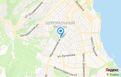 Местоположение на карте пункта техосмотра по адресу Краснодарский край, г Новороссийск, ш Мысхакское, д 50/28 литер а