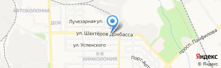 Мрия на карте Донецка
