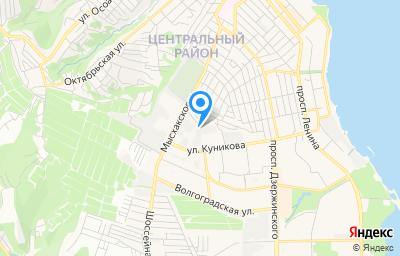 Местоположение на карте пункта техосмотра по адресу Краснодарский край, г Новороссийск, ш Мысхакское, д 48А