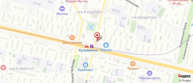 Карта расположения пункта доставки Москва Зеленодольская в городе Москва