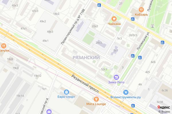 Ремонт телевизоров Район Рязанский на яндекс карте