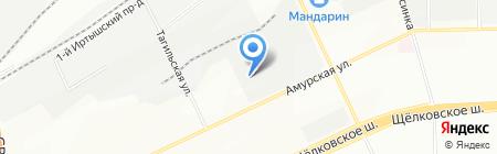 Медасс на карте Москвы