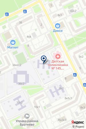 ДЕТСКИЙ САД № 1576 на карте Москвы