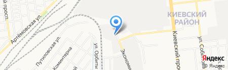 Сытый кот на карте Донецка