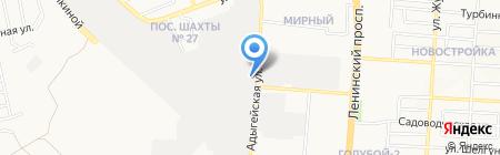 Дон Шугар на карте Донецка