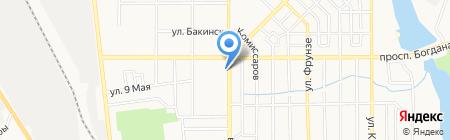 Комбат на карте Донецка