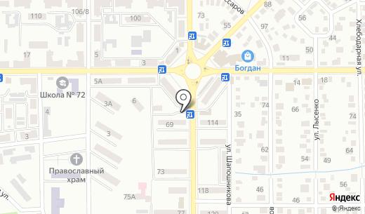 Комбат. Схема проезда в Донецке