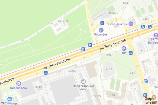 Ремонт телевизоров Энтузиастов шоссе на яндекс карте